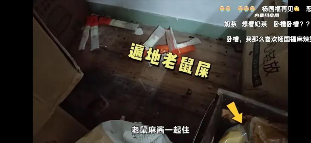 杨国福麻辣烫后厨被曝光:老鼠咬食材,洗碗布刷鞋!